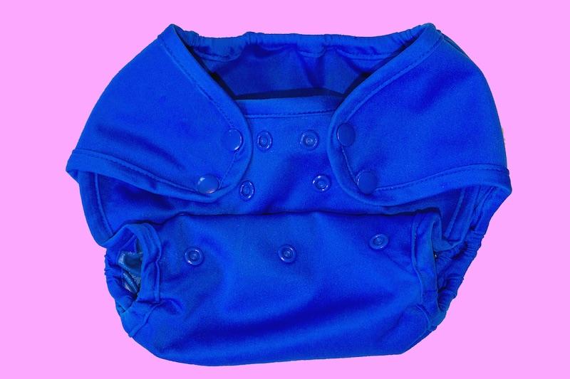 Snap Diaper Closure on Cloth Diaper