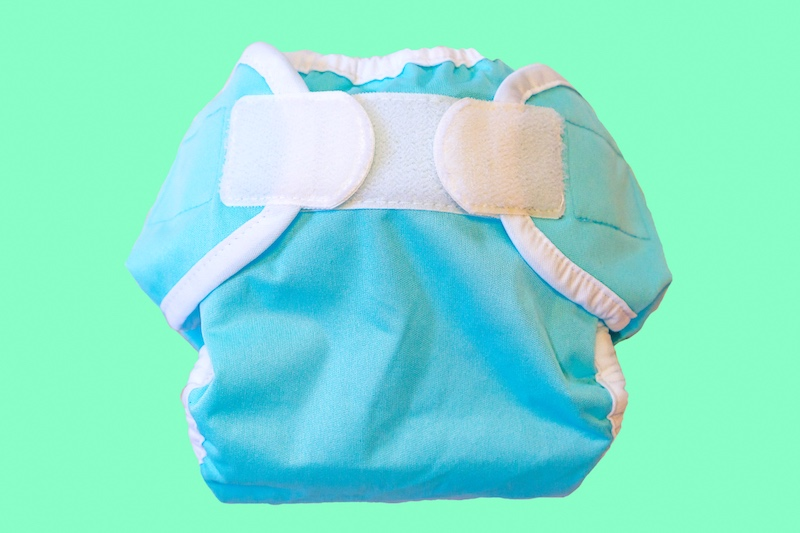 Velcro closure on cloth diapers