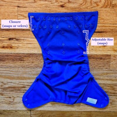 adjustable rise snaps on one size diapers_mama sloth
